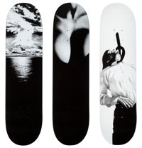 Robert Longo X Supreme Set of Three Skate Decks, 2011 Screenprints on skate decks 32 x 8 inches (