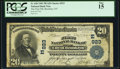 National Bank Notes:New York, Brooklyn, NY - $20 1902 Plain Back Fr. 650 The First National Bank of the City of Brooklyn Ch. # (E)923 PCGS Fine 15....