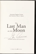 Explorers:Space Exploration, Gene Cernan Signed Book: The Last Man on the Moon. ...