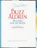 Explorers:Space Exploration, Buzz Aldrin Signed Book: Reaching For The Moon. ...