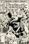 Original Comic Art:Covers, Bill Sienkiewicz and Joe Sinnott Fantastic Four #219 Cover Original Art (Marvel Comics, 1980)....
