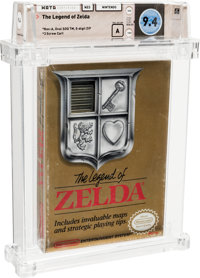 The Legend of Zelda [Oval SOQ TM, Later Production] Wata 9.4 A Sealed 1987 USA