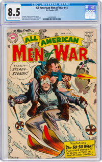 All-American Men of War #41 (DC, 1957) CGC VF+ 8.5 Cream to off-white pages