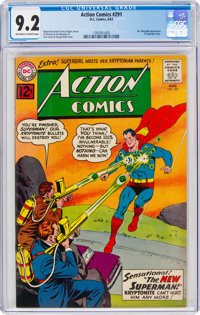 Action Comics #291 (DC, 1962) CGC NM- 9.2 Off-white to white pages
