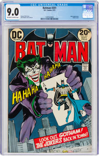 Batman #251 (DC, 1973) CGC VF/NM 9.0 Off-white to white pages