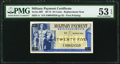 Military Payment Certificates:Series 692, Series 692 25¢ Replacement PMG About Uncirculated 53 EPQ.. ...