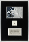 Explorers:Space Exploration, Soviet Luna 24 Spacecraft Return Artifact as Flown to the Surface of the Moon and Back to Earth, in Framed Display. ...