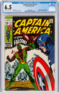 Captain America #117 (Marvel, 1969) CGC FN+ 6.5 Off-white to white pages