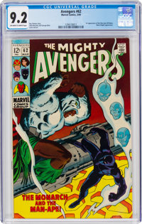 The Avengers #62 (Marvel, 1969) CGC NM- 9.2 Off-white to white pages