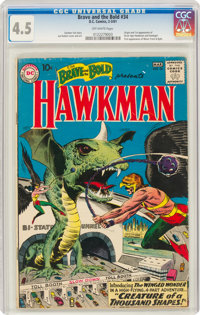 The Brave and the Bold #34 Hawkman (DC, 1961) CGC VG+ 4.5 Off-white pages