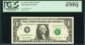 Low Serial Number 55 Fr. 1931-G $1 2003A Federal Reserve Note. PCGS Superb Gem New 67PPQ