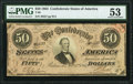 Confederate Notes:1864 Issues, T66 $50 1864 PF-2 Cr. 496 PMG About Uncirculated 53.. ...