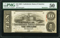 Confederate Notes:1863 Issues, T59 $10 1863 PF-16 Cr. 437 Remainder PMG About Uncirculated 50.. ...