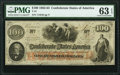 Confederate Notes:1862 Issues, T41 $100 1862 PF-12 Cr. 317A PMG Choice Uncirculated 63 EPQ.. ...
