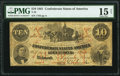 Confederate Notes:1861 Issues, T23 $10 1861 PF-1 Cr. 153 PMG Choice Fine 15 Net.. ...