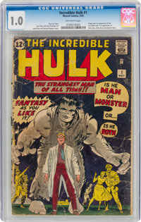 The Incredible Hulk #1 (Marvel, 1962) CGC FR 1.0 Off-white pages