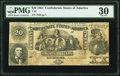 Confederate Notes:1861 Issues, T20 $20 1861 PF-14 Cr. 143 PMG Very Fine 30.. ...