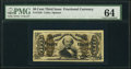 Fractional Currency:Third Issue, Fr. 1328 50¢ Third Issue Spinner PMG Choice Uncirculated 64.. ...