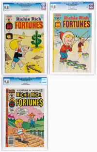 Richie Rich Fortunes #19, 21, and 57 CGC-Graded File Copy Group (Harvey, 1974-81) CGC NM/MT 9.8.... (Total: 3)