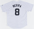 Autographs:Jerseys, Yogi Berra Signed New York Yankees Jersey. Offered...