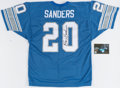 Autographs:Jerseys, Barry Sanders Signed Jersey. Barry Sanders, one of...