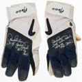 Autographs:Others, 2005 Alex Rodriguez Signed & Game-Used Batting Gloves. ...