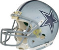 Football Collectibles:Helmets, 2010 Miles Austin Game Worn Dallas Cowboys Helmet Photomatched to Three Games....