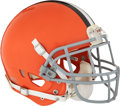 Football Collectibles:Helmets, 2012 Josh Gordon Game Worn Cleveland Browns Helmet Photomatched to 12/30/12 vs. Steelers - Rookie Season!...