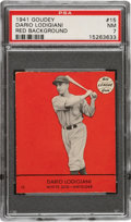 Baseball Cards:Singles (1940-1949), 1941 Goudey Dario Lodigiani (Red) #15 PSA NM 7 - Pop One, None Higher! ...