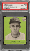 Baseball Cards:Singles (1940-1949), 1941 Goudey George Case (Green) #16 PSA NM-MT 8 - Pop One, None Higher! ...