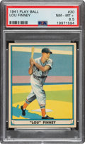 Baseball Cards:Singles (1940-1949), 1941 Play Ball Lou Finney #30 PSA NM-MT+ 8.5 - Pop Two, One Higher. ...