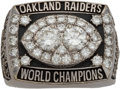 Football Collectibles:Others, 1980 Oakland Raiders Super Bowl XV Championship Ring Presented to Defensive Tackle Reggie Kinlaw....