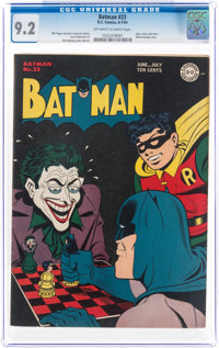 Batman #23 (DC, 1944) CGC NM- 9.2 Off-white to white pages