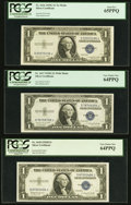 Small Size:Silver Certificates, Fr. 1616 $1 1935G No Motto Silver Certificate. PCGS Gem New 65PPQ;. Fr. 1617 $1 1935G With Motto Silver Certificate. PCGS ... (Total: 3 notes)
