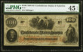 Confederate Notes:1862 Issues, T41 $100 1862 PF-12 Cr. 317A PMG Choice Extremely Fine 45 EPQ.. ...