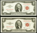 Fr. 1509* $2 1953 Legal Tender Star Note. PCGS Very Choice New 64PPQ; Fr. 1510 $2 1953A Legal Tender Note. PCGS Gem New...
