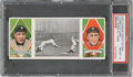 Baseball Cards:Singles (Pre-1930), 1912 T202 Hassan Fast Work At Third - O'Leary/Cobb PSA NM-MT 8 - None Higher. ...