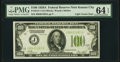 Small Size:Federal Reserve Notes, Fr. 2151-J $100 1928A Light Green Seal Federal Reserve Note. PMG Choice Uncirculated 64 EPQ.. ...