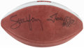 Autographs:Footballs, Steve Young, Jerry Rice Multi-Signed Football. Of...