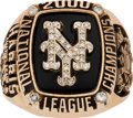 Baseball Collectibles:Others, 2000 New York Mets National league Championship Ring Presented to Lenny Harris - With Player Provenance!...
