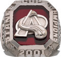 Hockey Collectibles:Others, 2001 Colorado Avalanche Stanley Cup Championship Ring & Original Box Presented to Front Office Employee....
