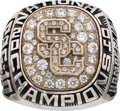 Football Collectibles:Others, 2004 USC Trojans National Championship Ring Presented to Front Office Employee....