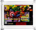 Video Games:Nintendo, Marvel Super-Heroes in War of the Gems Wata 9.0 A+ Sealed SNES Capcom 1996 USA....