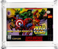 Marvel Super-Heroes in War of the Gems Wata 9.0 A+ Sealed SNES Capcom 1996 USA