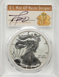 2006-W $1 Silver Eagle, Burnished, Thomas S. Cleveland, SP70 PCGS. This lot will also include the following: 2006-W $1...