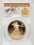 Four-Piece 2011-W Gold Eagle Proof Set, Thomas S. Cleveland, PR70 Deep Cameo PCGS. Each Gold Eagle denomination from 201...