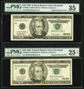Engraving Error Fr. 2085-D $20 1999 Federal Reserve Notes. PMG Graded Choice Very Fine 35; Very Fine 25 Net. ... (Total:...