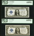 Small Size:Silver Certificates, Fr. 1602 $1 1928B Silver Certificate. PCGS Very Choice New 64PPQ;. Fr. 1603 $1 1928C Silver Certificate. PCGS Very Choice ... (Total: 2 notes)