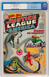 The Brave and the Bold #28 Justice League of America (DC, 1960) CGC VG+ 4.5 Tan to cream pages