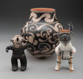 American Indian Art:Pottery, Three Cochiti Pottery Items... (Total: 3 )